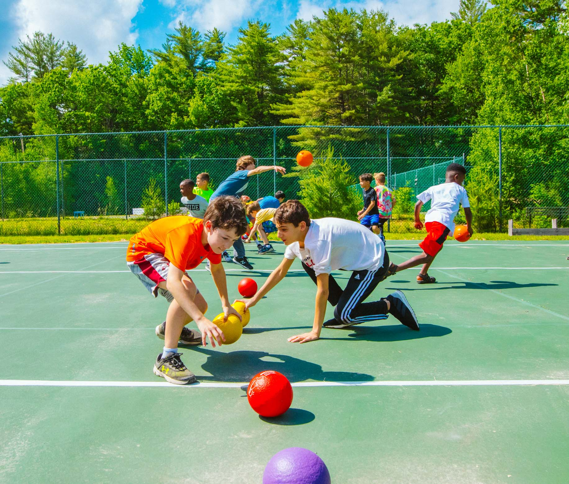 Boys at dodgeball