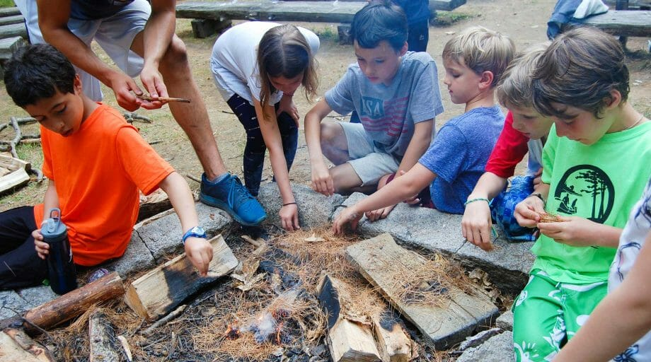 Kids outdoor cooking