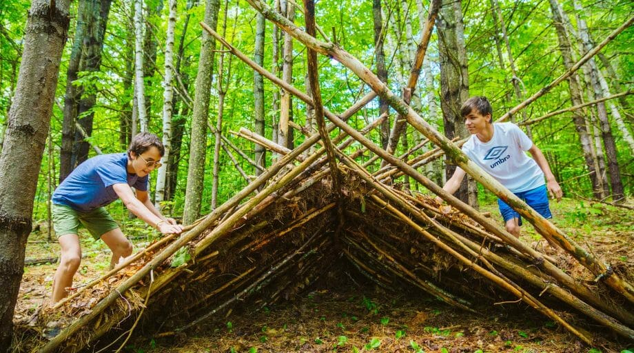 Creating a shelter from nature