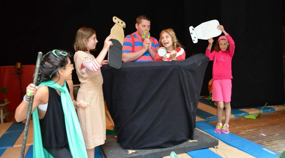 Performing in a play