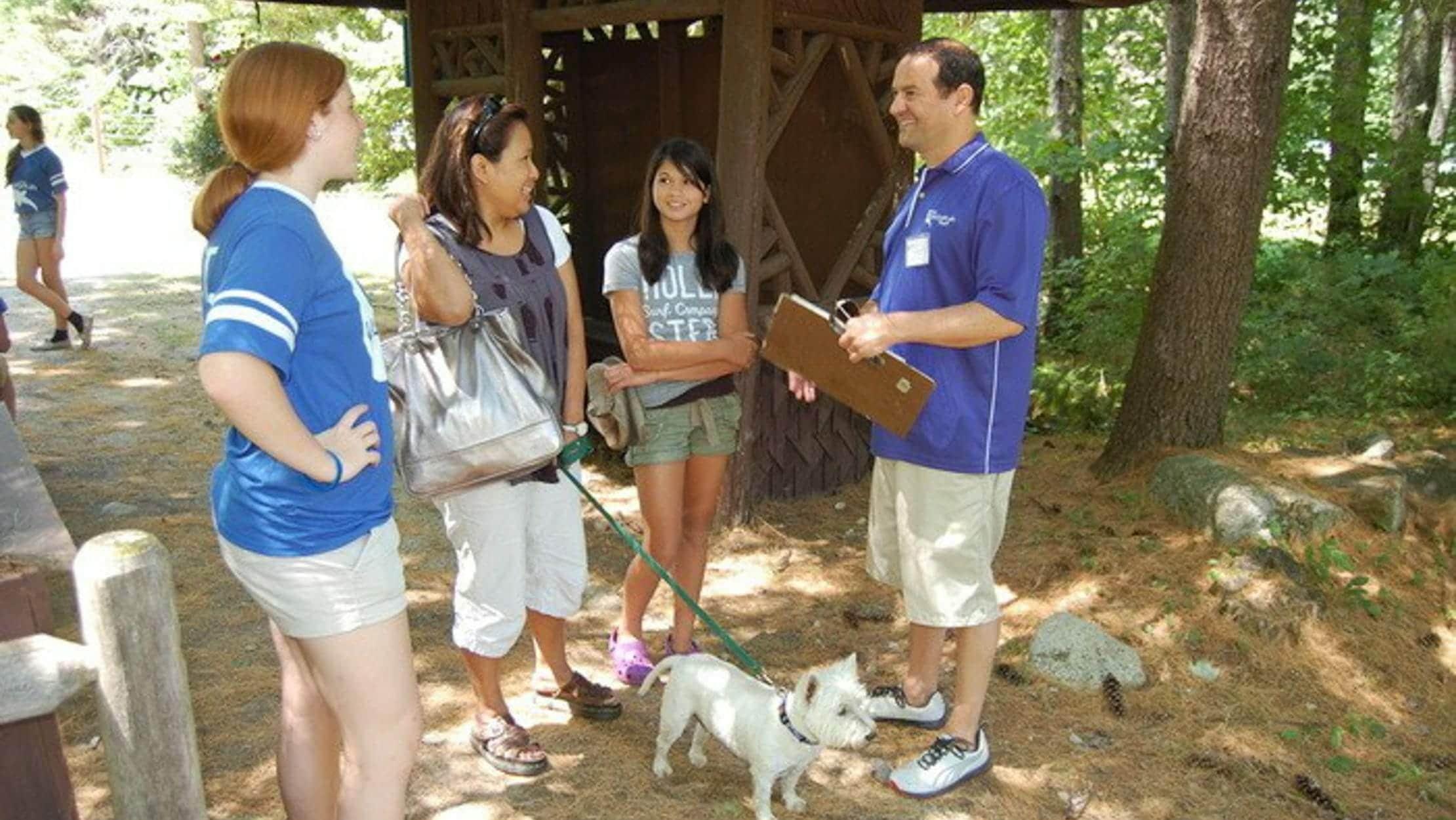 Director/Owner Gregg Parker speaking with Camp Waziyatah parents