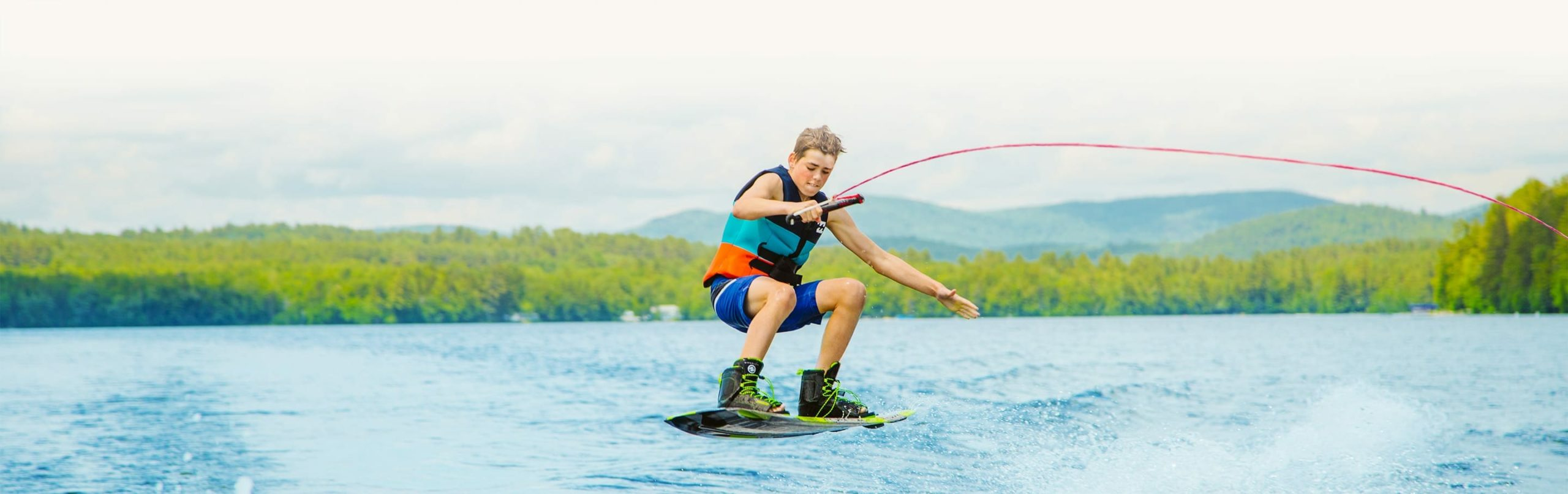 Camper doing a wakeboarding trick