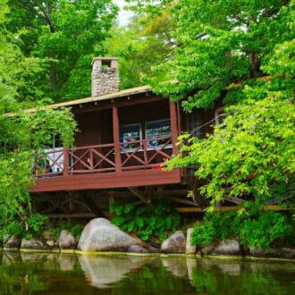 Cabin along Lake McWain